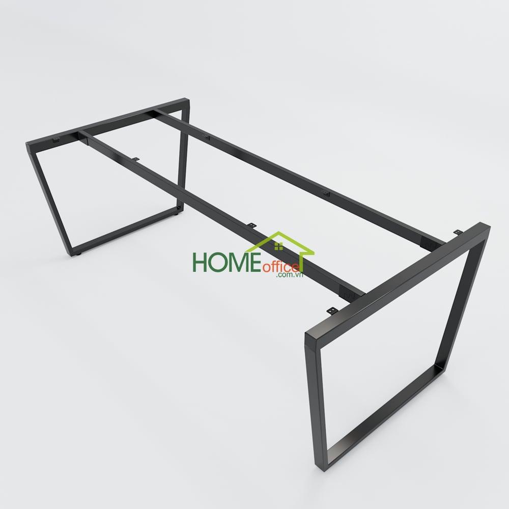 Bàn họp 200x100 Trapeze Concept lắp ráp
