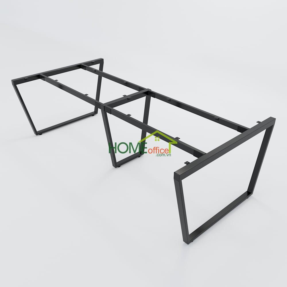 Bàn họp 240x120 Trapeze Concept lắp ráp