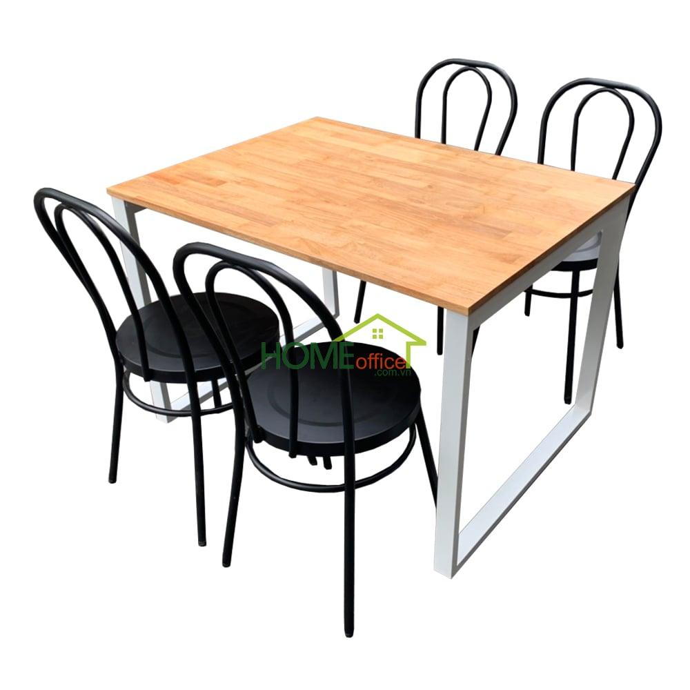bộ bàn ăn và 4 ghế thonet