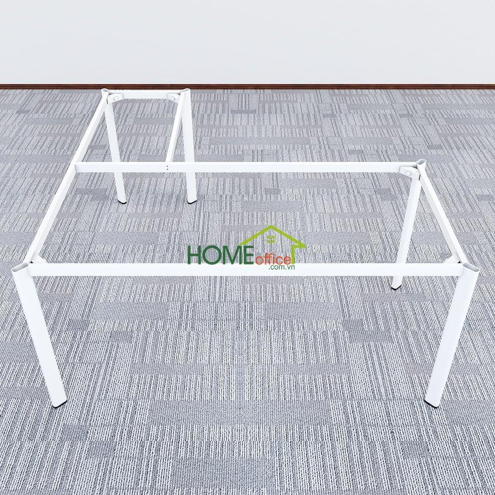 Bàn chữ L 160x160 hệ Oval Concept lắp ráp