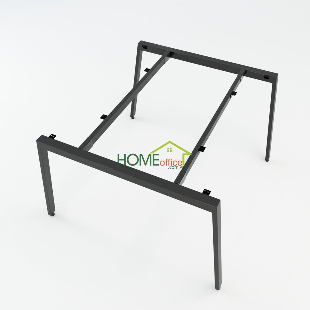 Bàn cụm 2 120x120 Aton Concept chân sắt lắp ráp