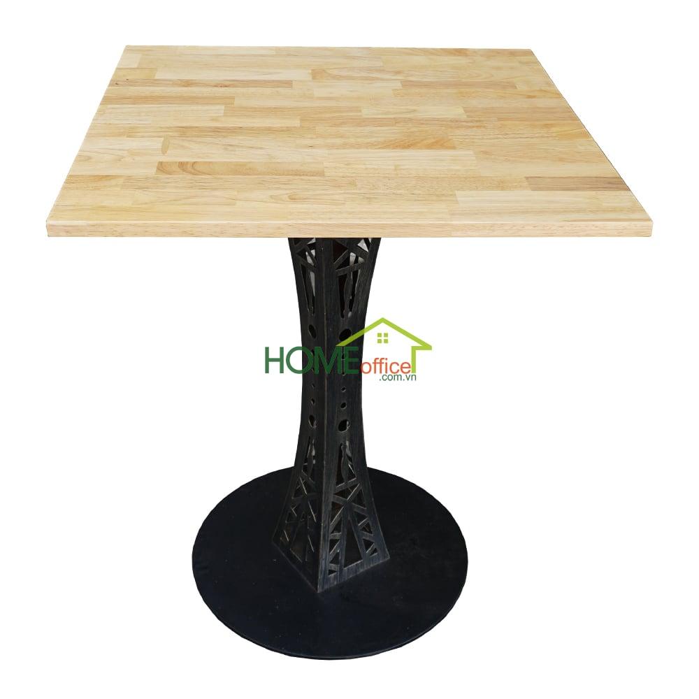 bàn cafe vuông 60cm chân sắt hoa văn