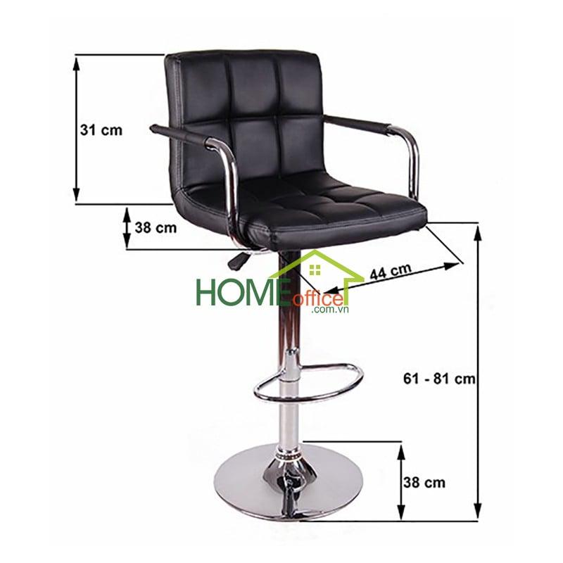 Ghế bar nệm simili màu đen