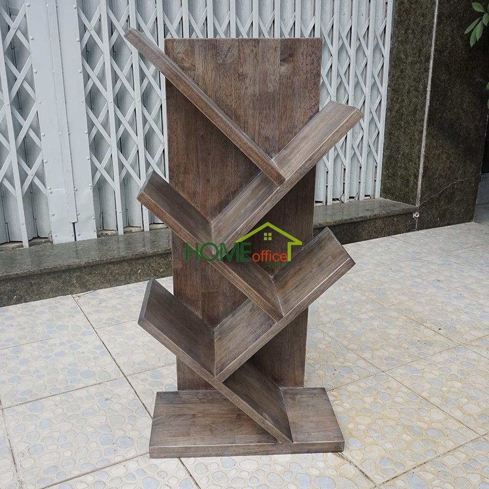 Kệ sách mini hình nhánh cây màu nâu lau - 40x20x80 (cm)