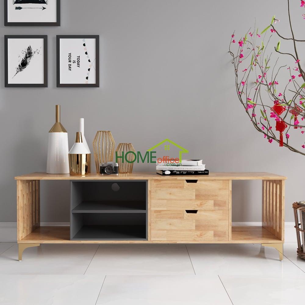 Kệ tivi phòng khách hiện đại bằng gỗ