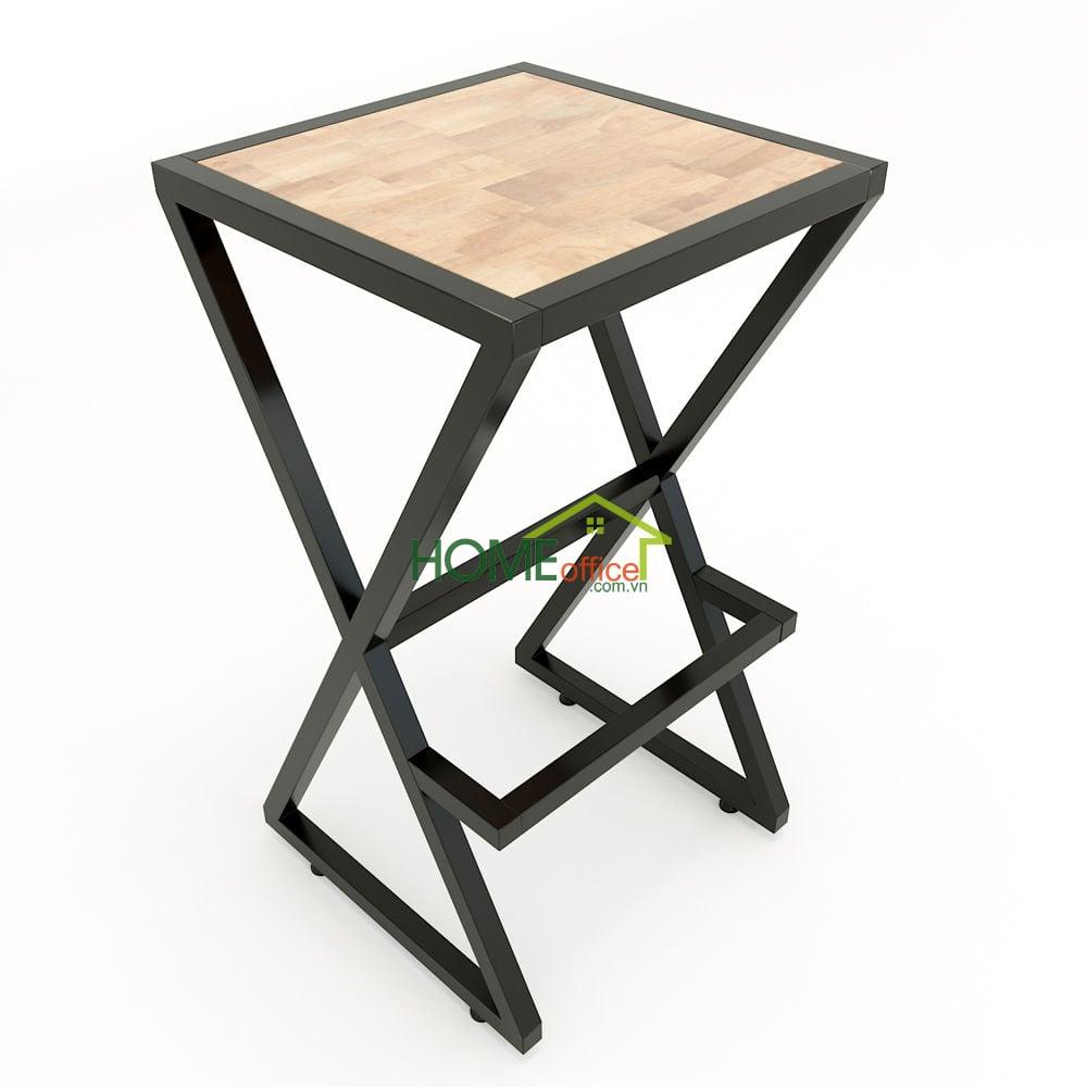 Ghế bar chân sắt chữ X