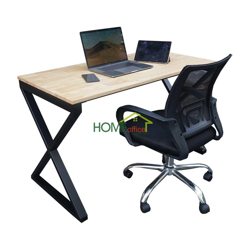 Combo bàn làm việc chân chữ X và ghế