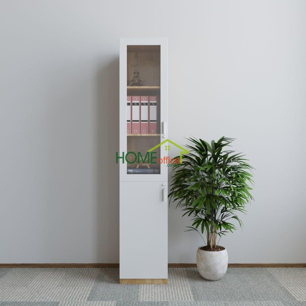 Tủ hồ sơ 40x40x220cm gỗ cao su có cửa