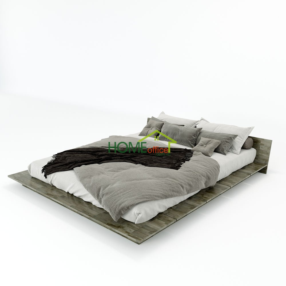 giường ngủ Japa kiểu nhật gỗ cao su