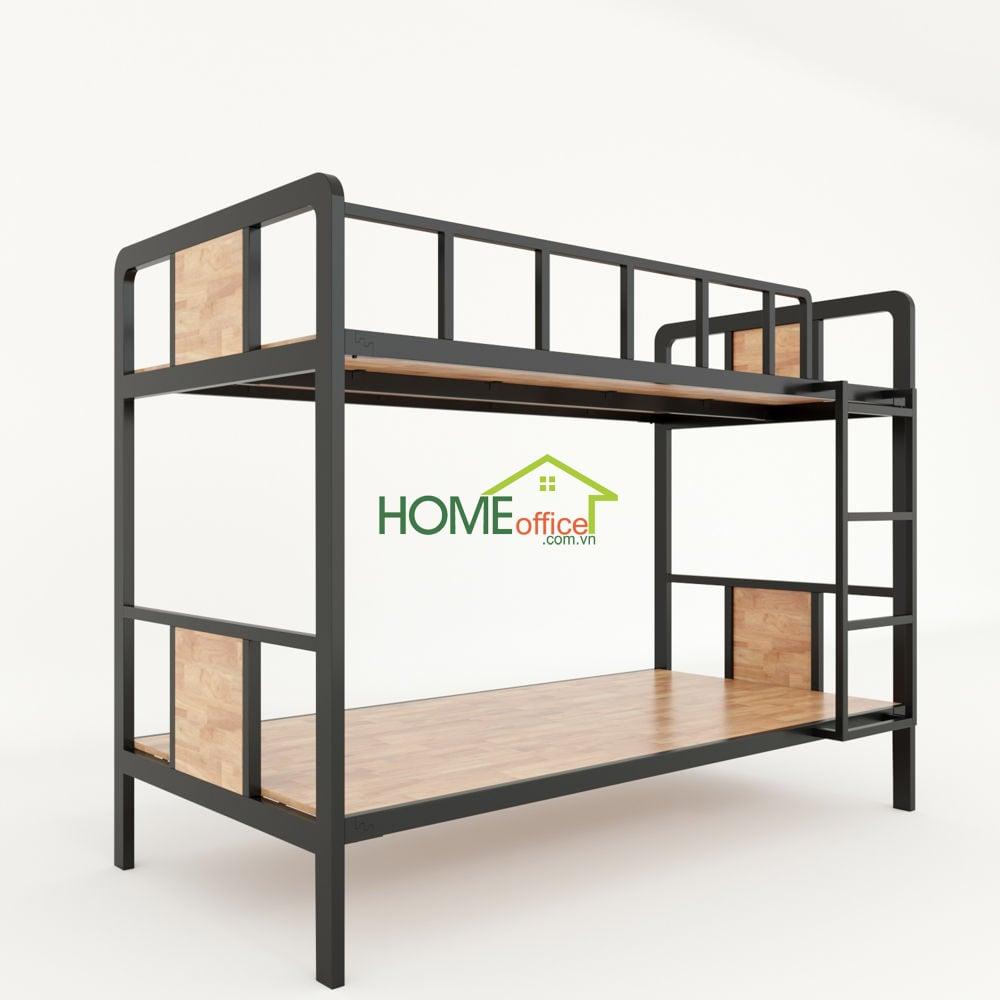 Giường tầng khung gỗ cao su