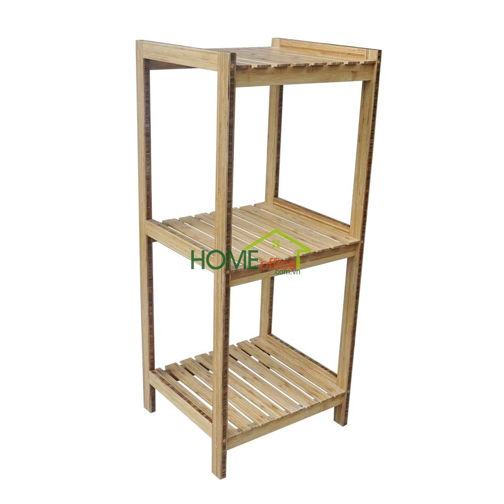 BS001- Kệ gỗ tre 3 tầng đa năng ( 44x40x110cm)