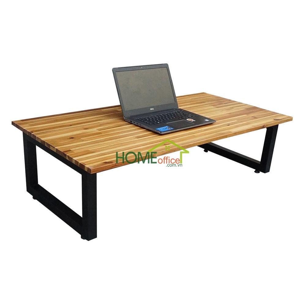 Bàn làm việc ngồi bệt SGDesk gỗ tràm 60x120cm