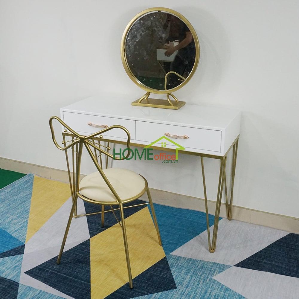 Bộ bàn trang điểm 3 món sơn vàng đồng
