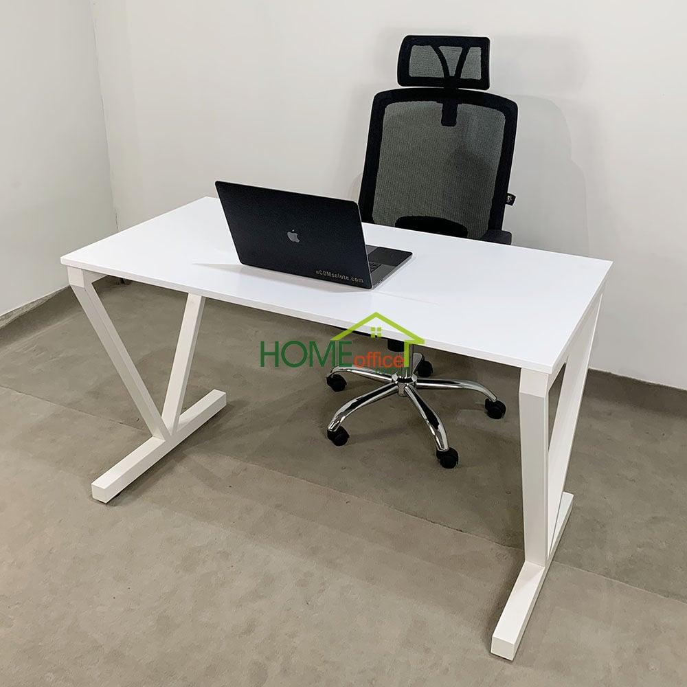 Combo bàn Vconcept Full trắng và ghế xoay có tựa đầu