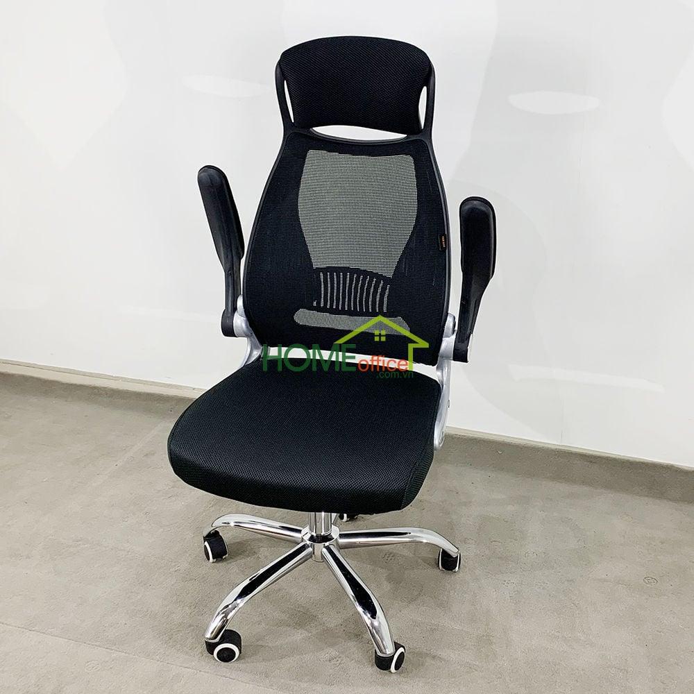 Ghế xoay văn phòng lưng lưới tay lật có tựa đầu