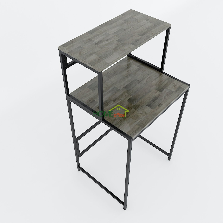 Kệ máy giăt 2 tầng gỗ cao su khung sắt