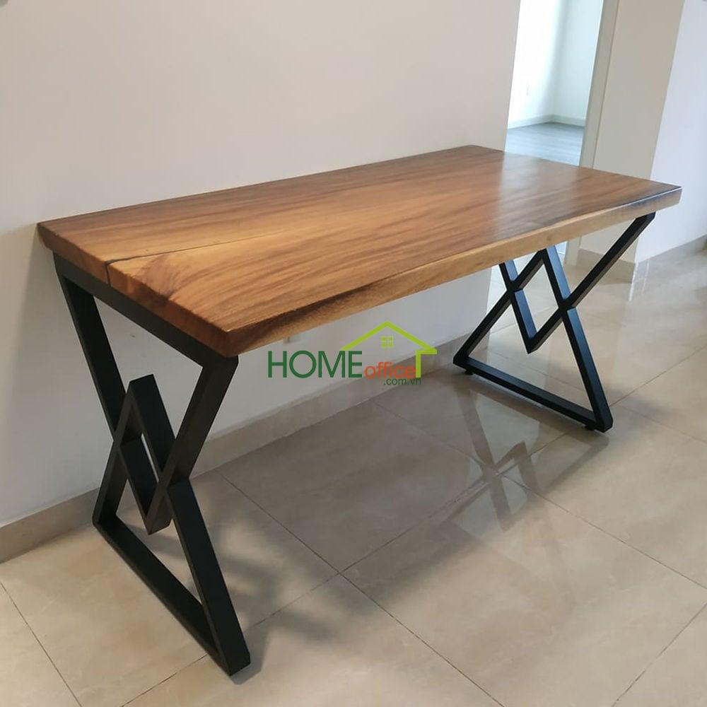 bàn gỗ me tây nguyên tấm kích thước 70x140cm