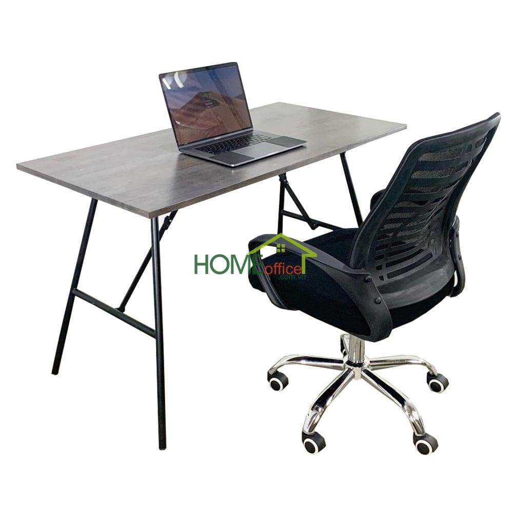 Combo bàn gấp gọn và ghế chân xoay