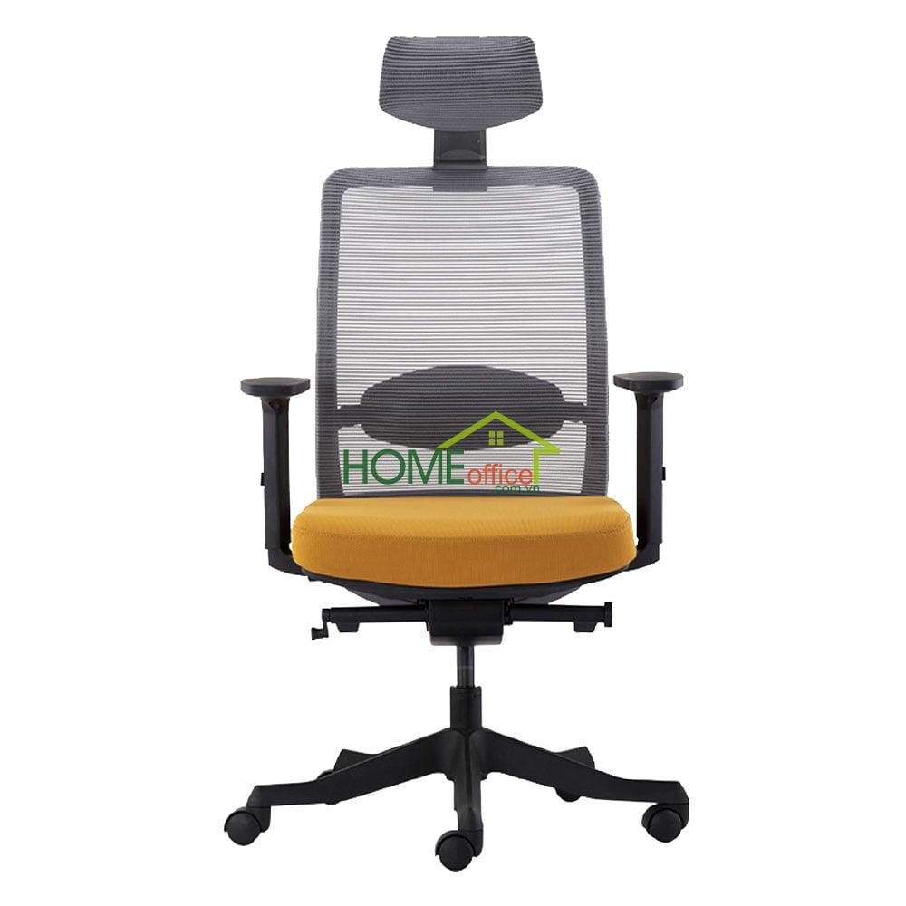 Ghế văn phòng chân xoay cao cấp có tựa đầu
