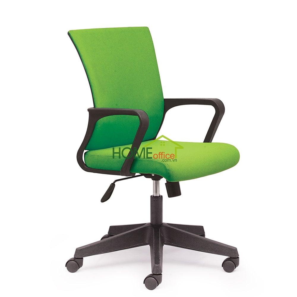 Ghế văn phòng chân xoay nệm xanh
