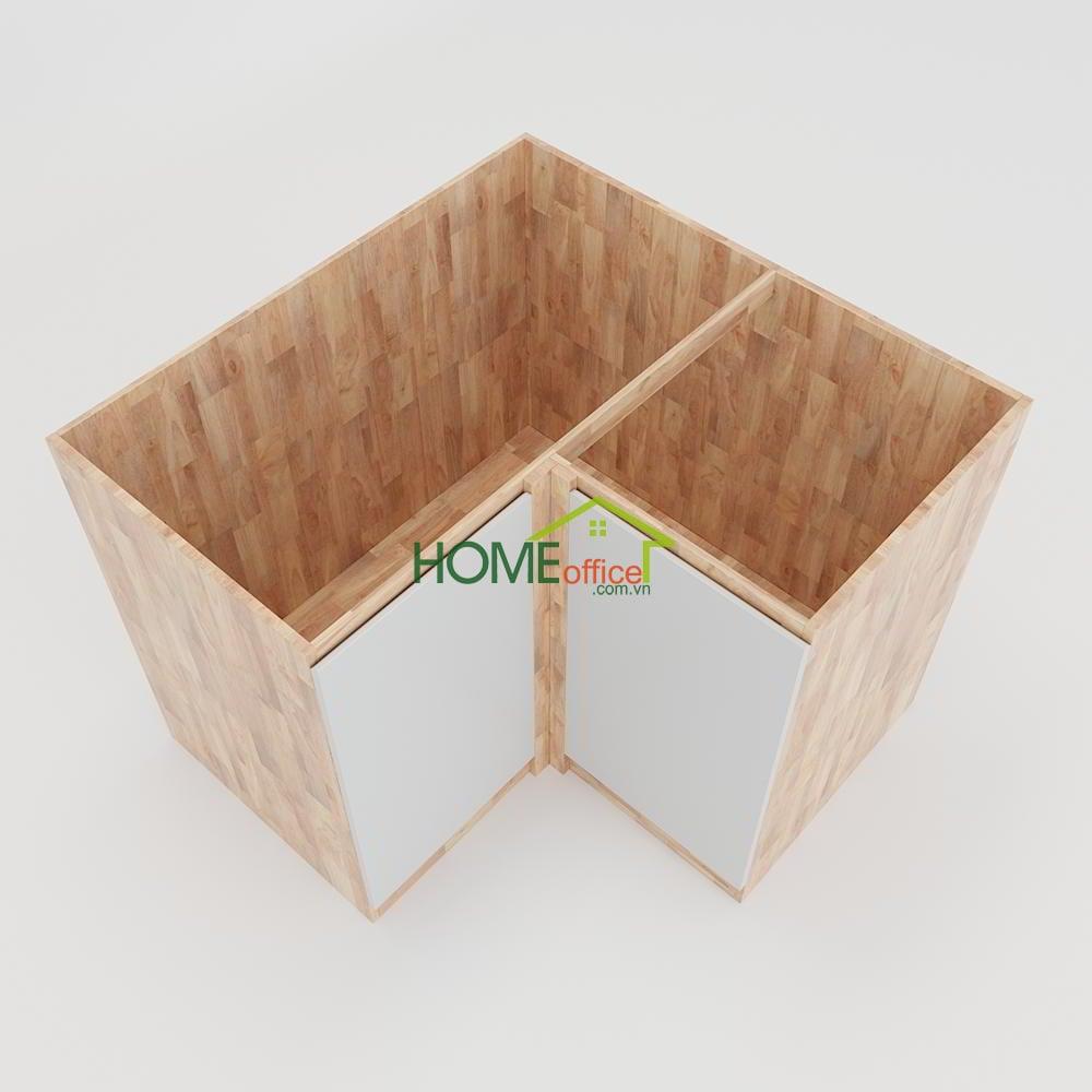 Module tủ bếp dưới màu gỗ tự nhiên