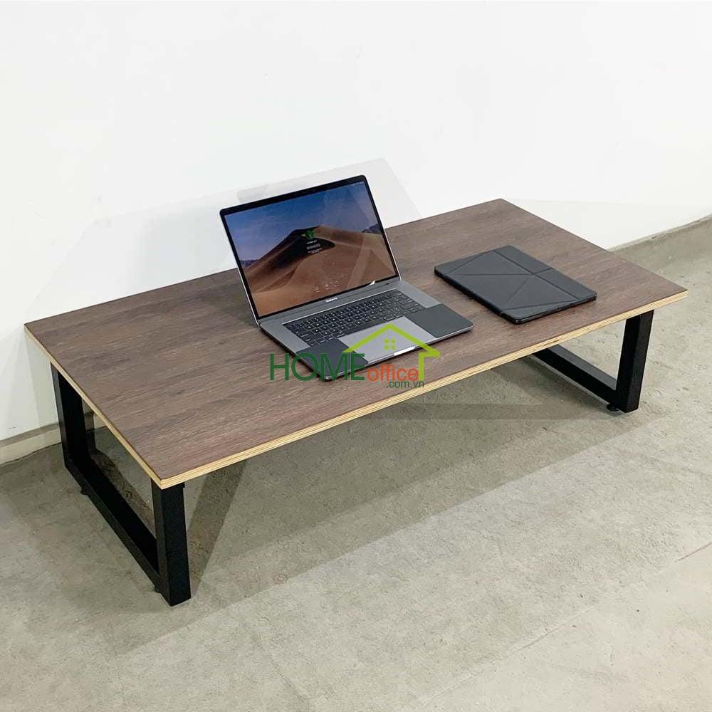 Bàn làm việc gỗ Plywood chân gấp thấp