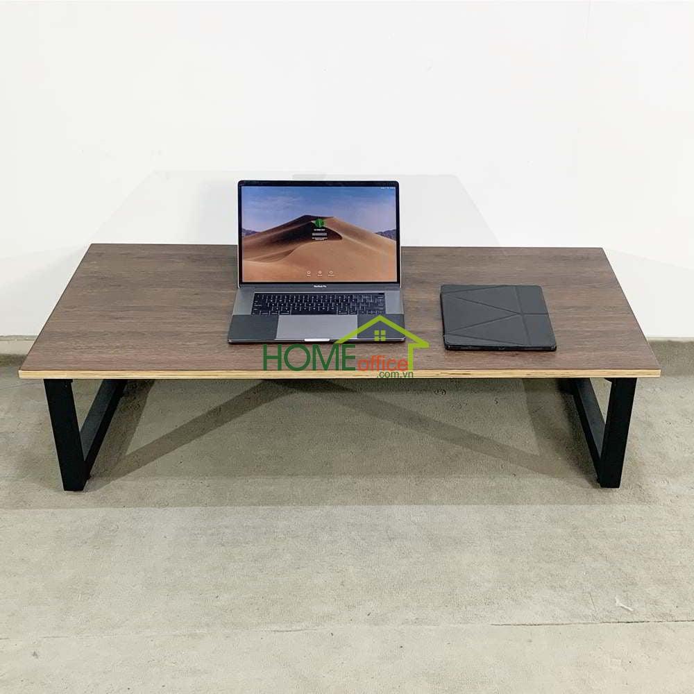 Bàn ngồi bệt gỗ Plywood chân gấp thấp
