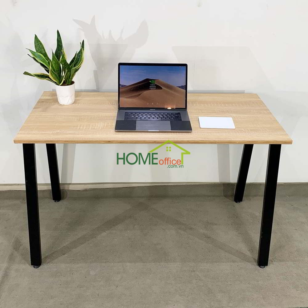 Bàn gỗ Plywood chân sắt Aton concept llắp ráp