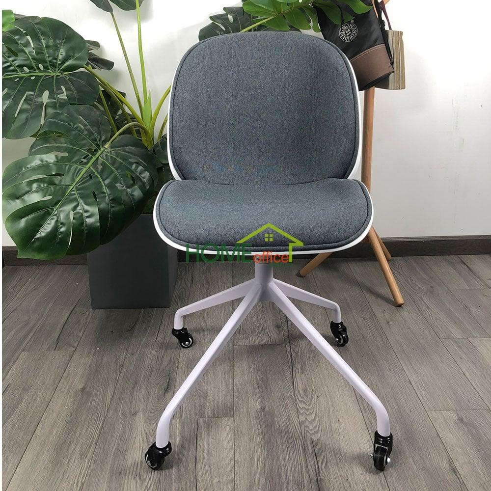 Ghế bàn cao nệm vải chân sắt sơn tĩnh điện mặt ghế xoay 360