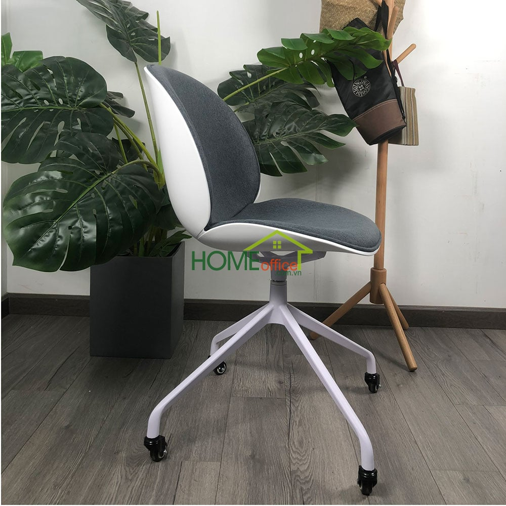Ghế bàn cao lưng nhựa chân xoay