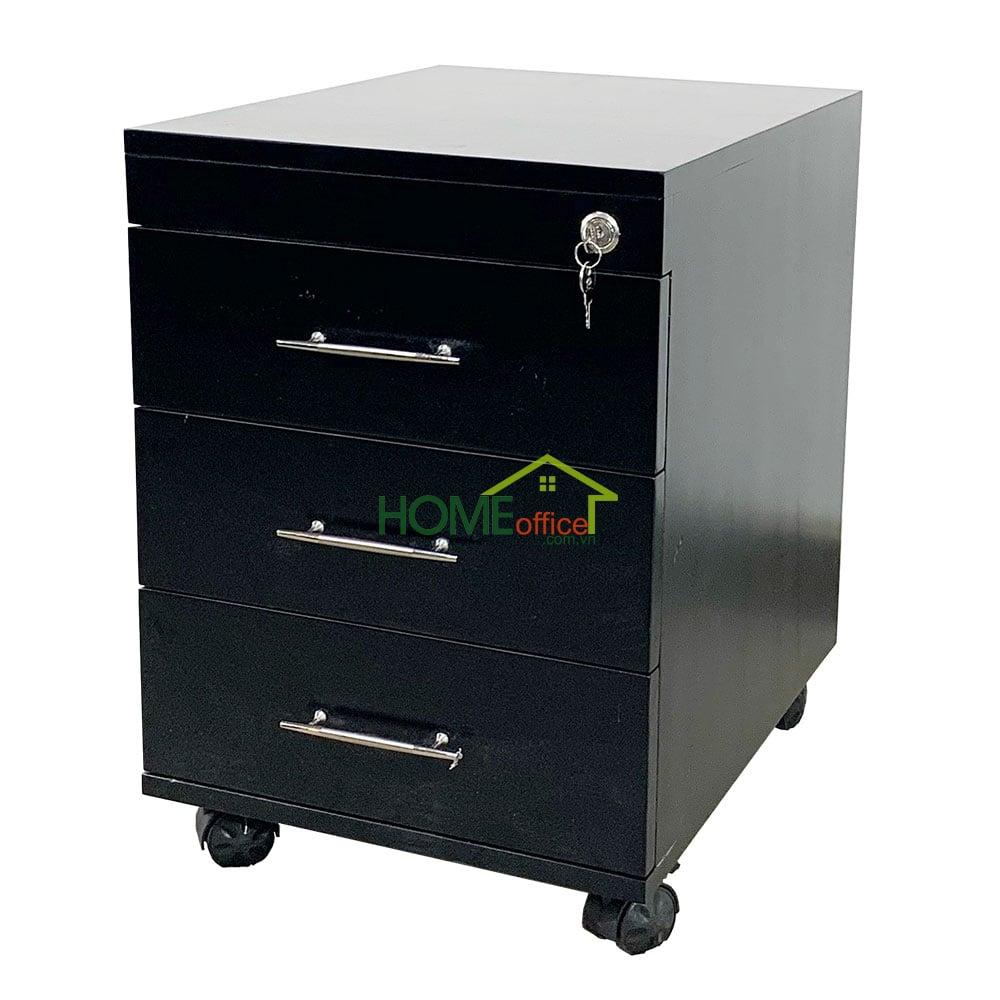 Tủ cá nhân 3 ngăn kéo màu đen