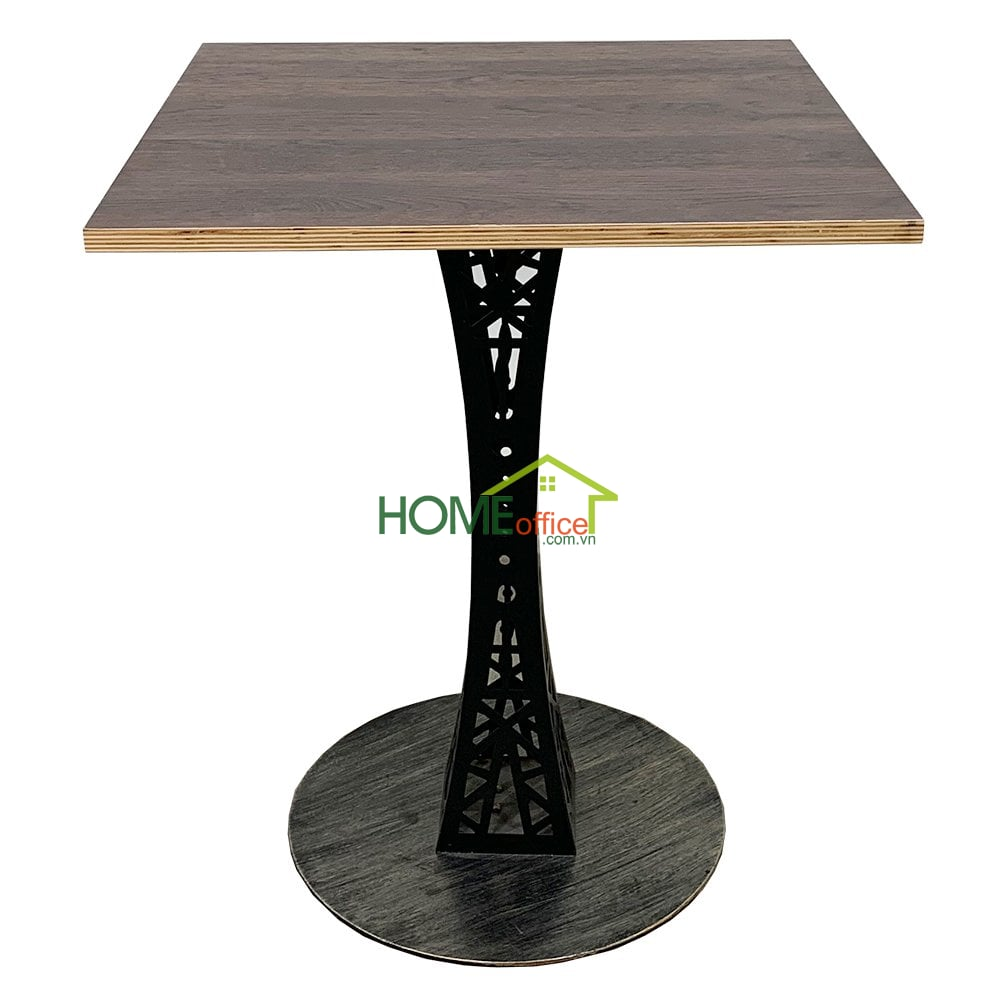 bàn cafe gỗ Plywood chân sắt
