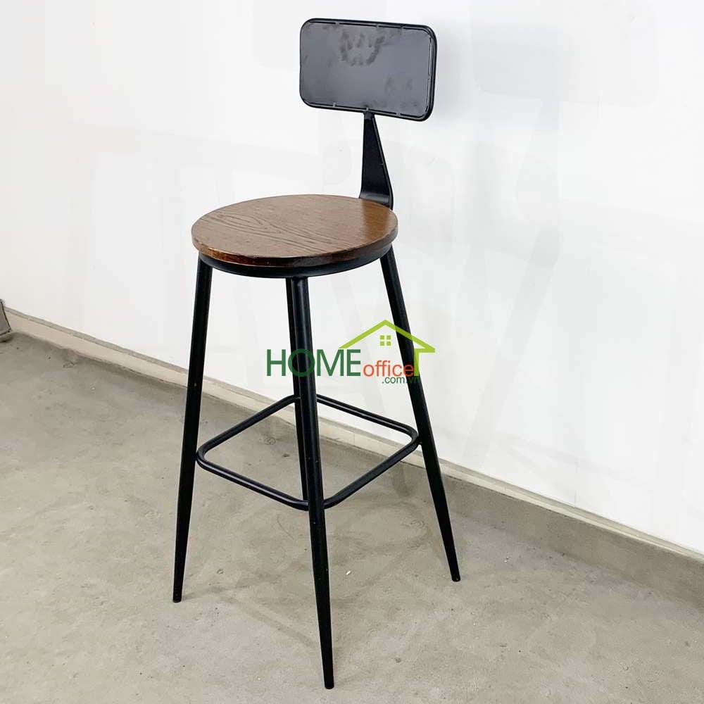 Ghế bar có lưng tựa chân sắt sơn tĩnh điện