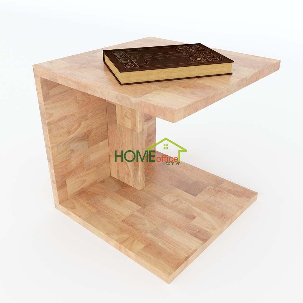 Tủ đầu giường hình vuông gỗ cao su