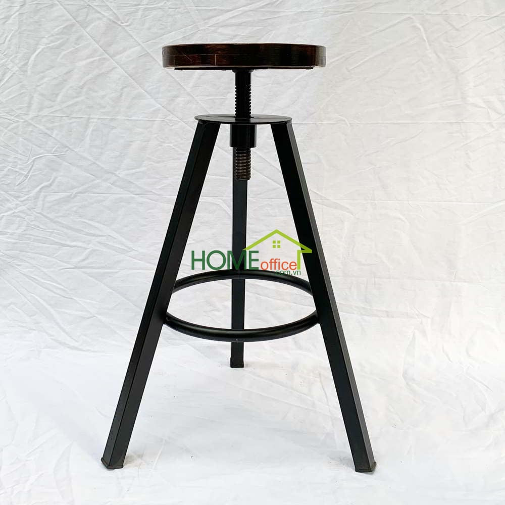 Ghế bar gỗ chân sắt