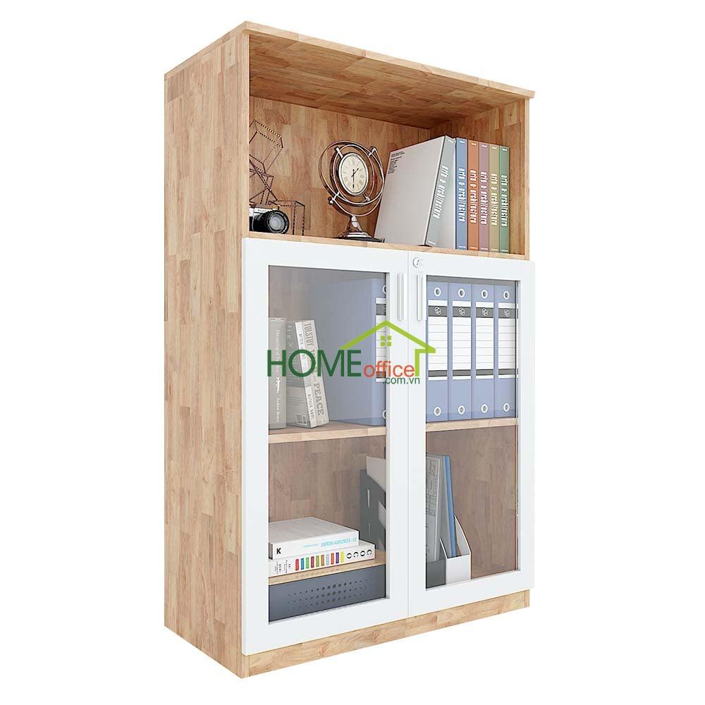 Tủ hồ sơ cao 120cm gỗ cao su