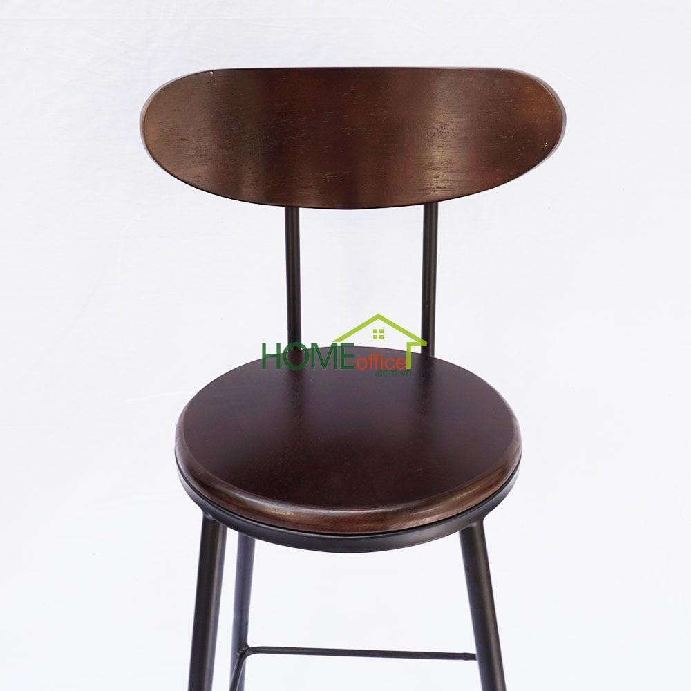 Ghế bar tựa lung chân sắt sơn tĩnh điện