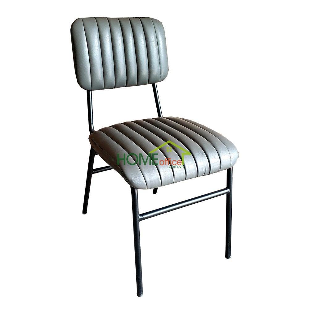 Ghế ăn, ghế cafe nệm da chân sắt sơn tĩnh điện