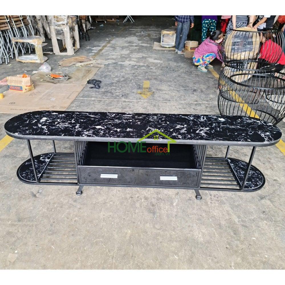 bàn Sofa mặt đá khung sắt sơn tĩnh điện