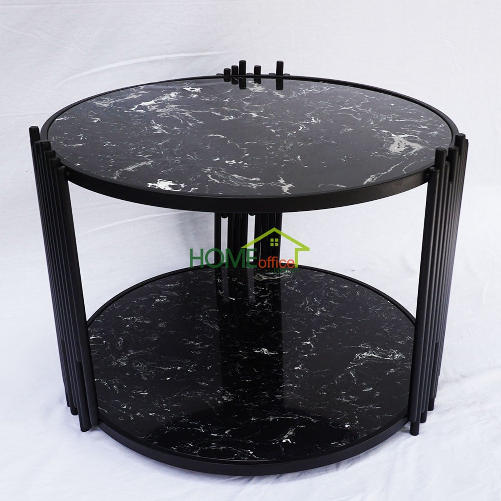 Bàn sofa mặt đá đen khung sắt sơn tĩnh điện