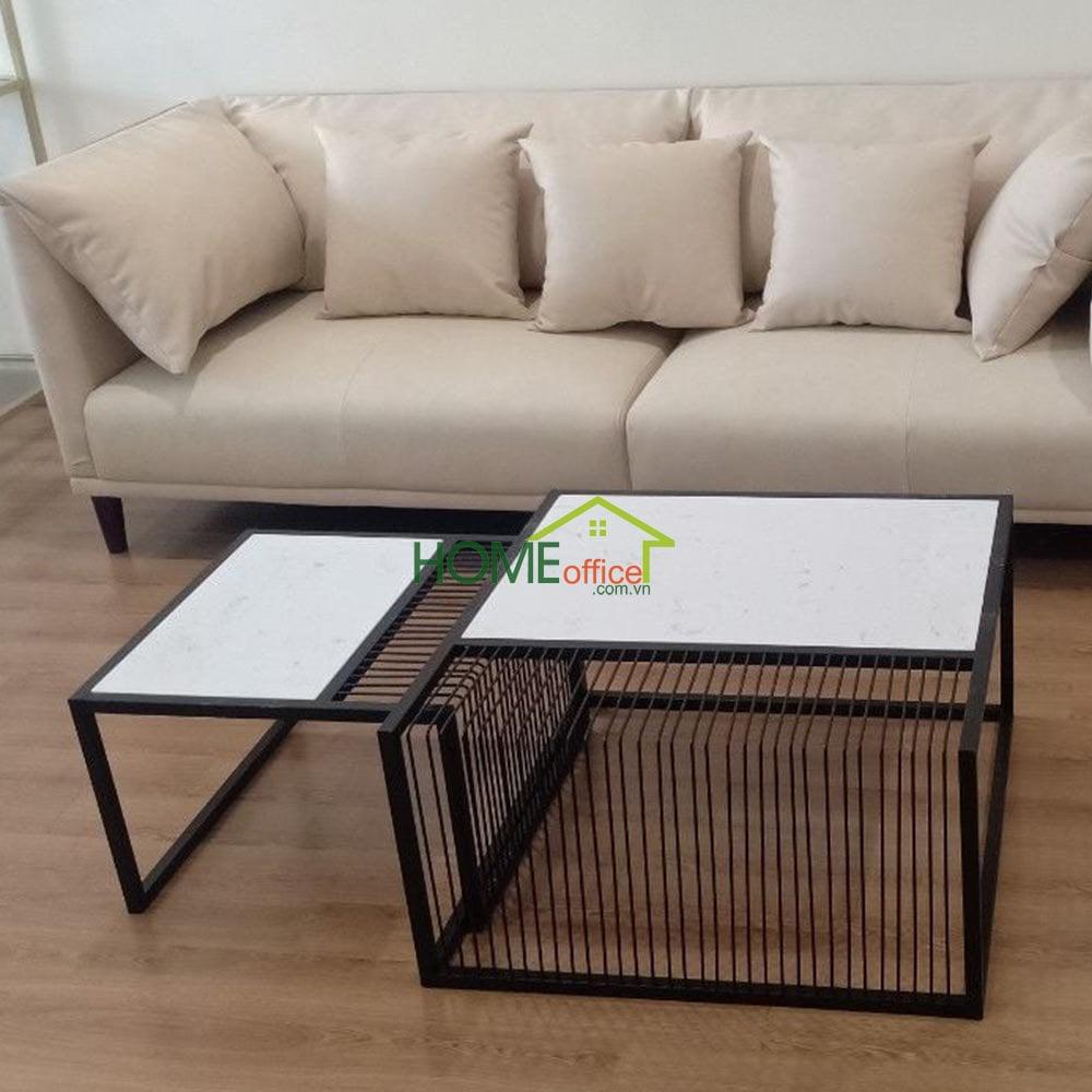 Bàn sofa chân sắt sơn tĩnh điện