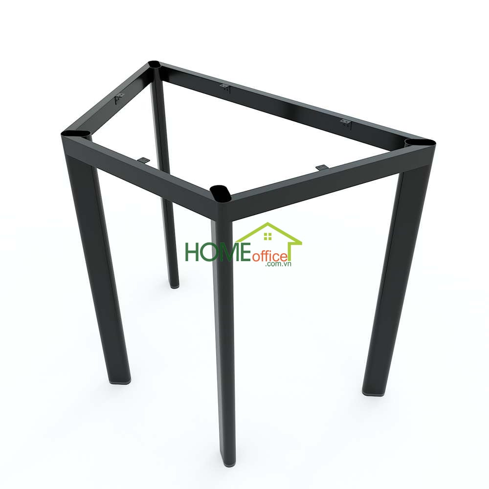 Bàn hình thang mini gỗ pkywood chân sắt oval
