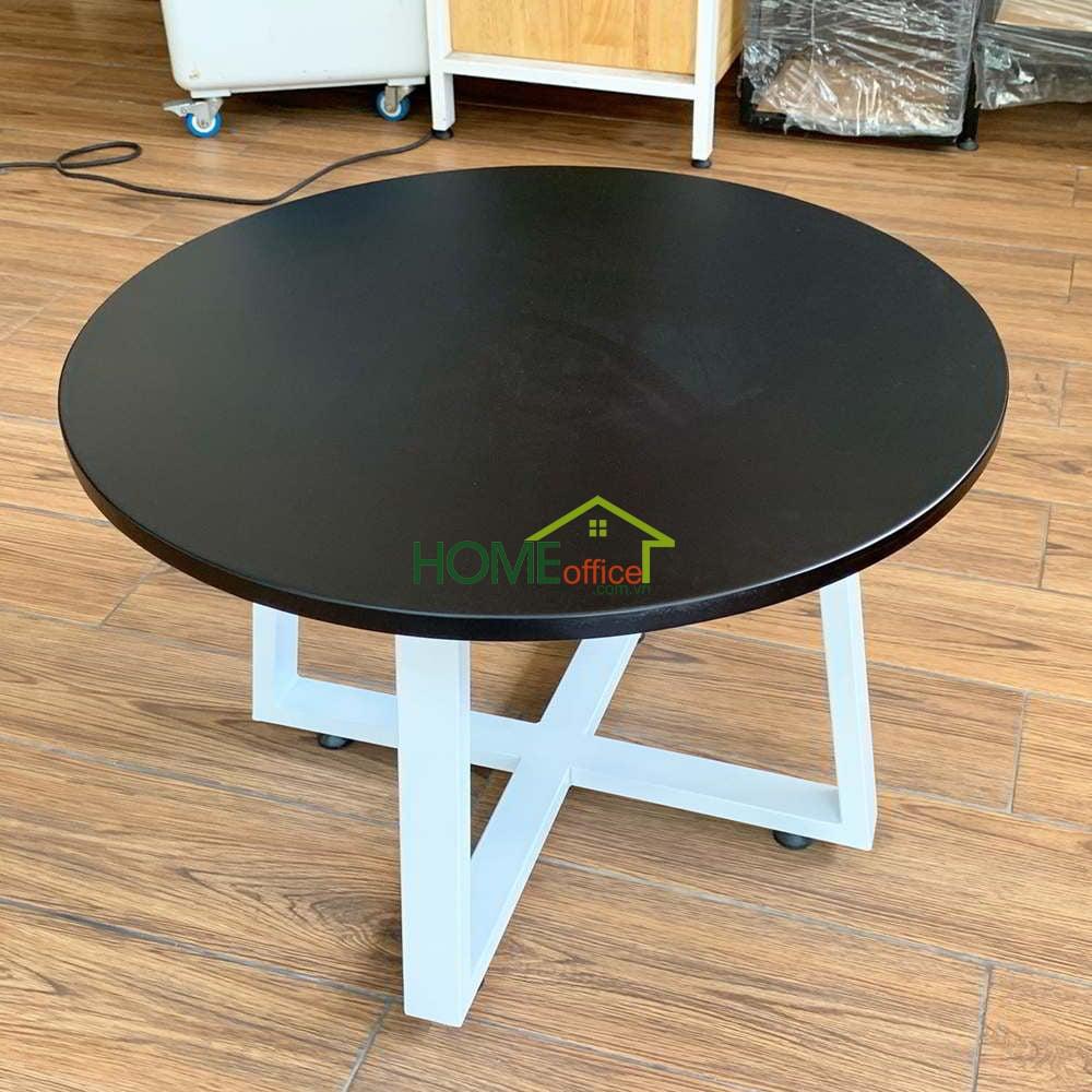 Thanh lý bàn sofa mặt bàn gỗ chân sắt