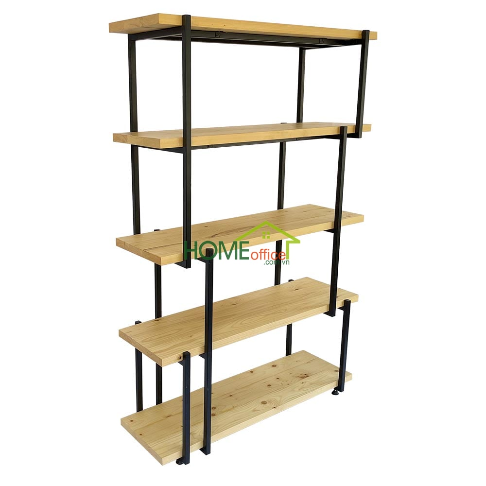 KTB68084 - Kệ trang trí khung sắt và gỗ Thông