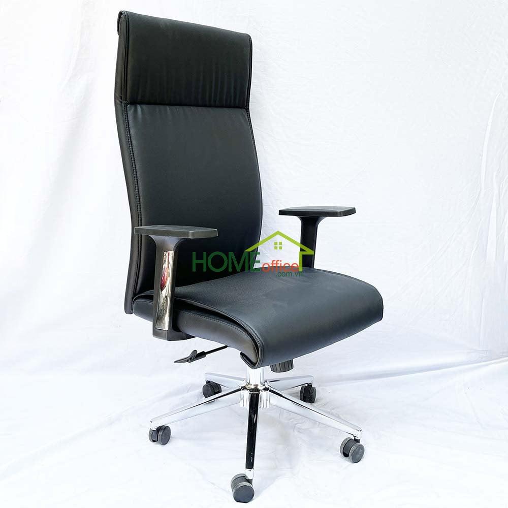 ghế văn phòng bọc simili đen