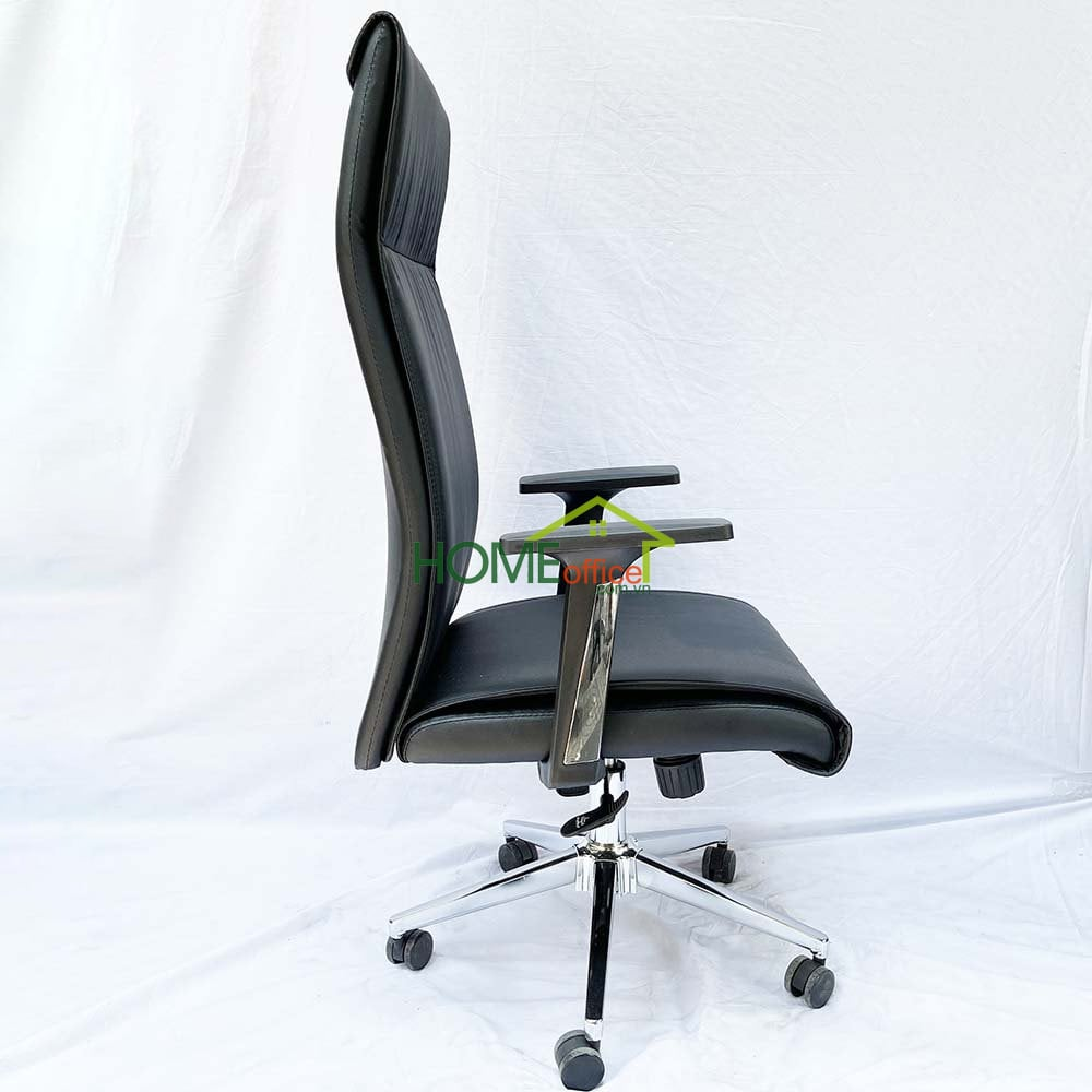 ghế văn phòng chân xoay nệm simili