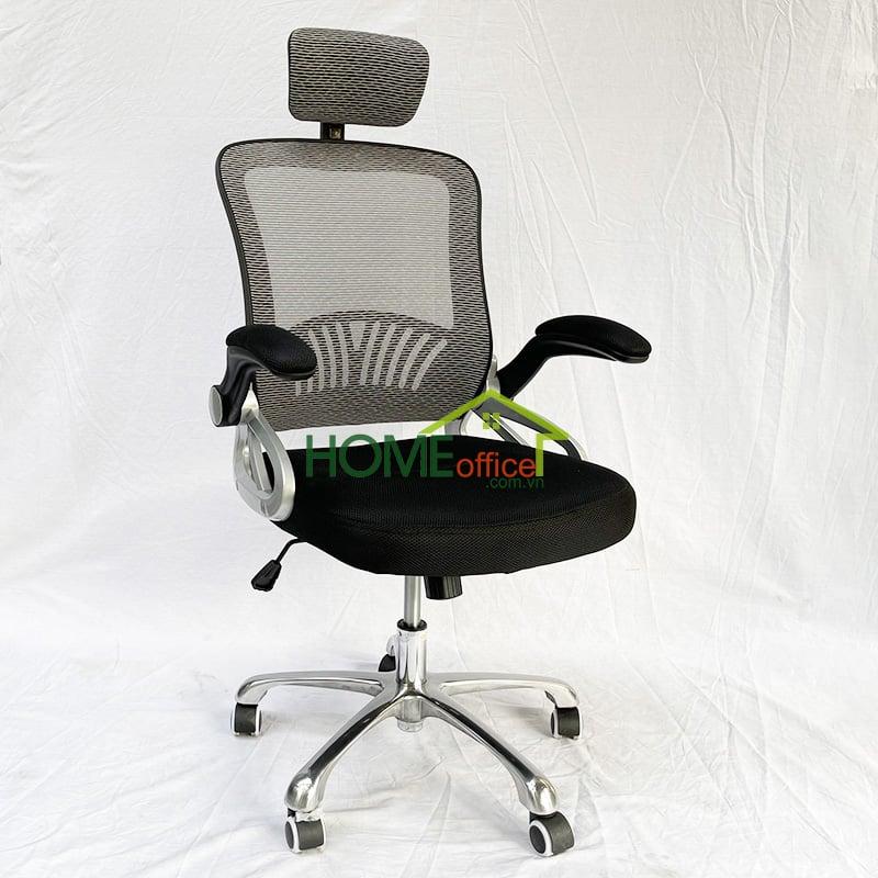 ghế văn phòng chân xoay lưng lứoi có tựa đầu