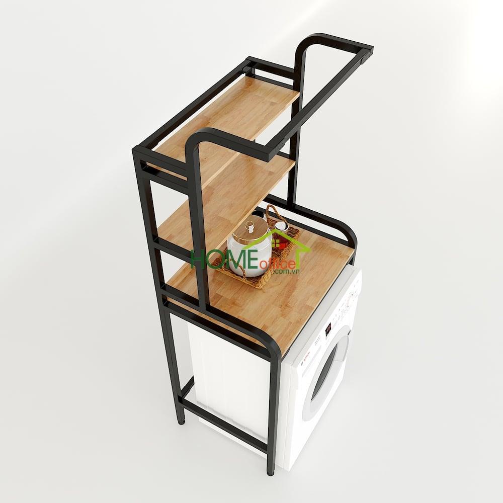 Kệ máy giặt 3 tầng gỗ khung cung