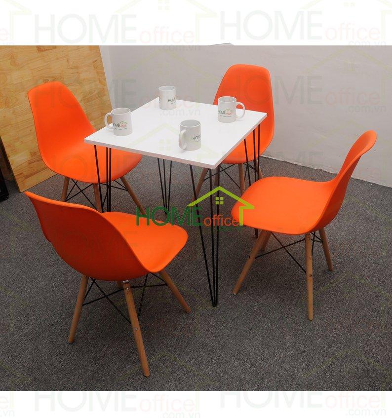 bàn ghế cafe màu trắng