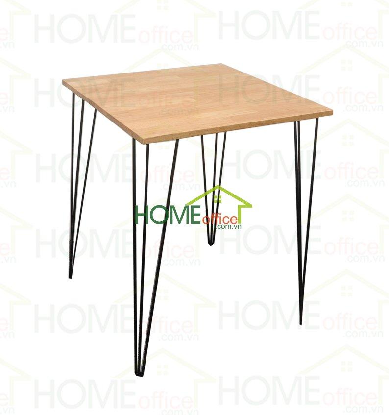 bàn cafe mặt gỗ vuông